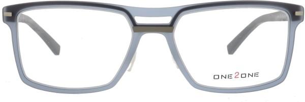 markante One 2 One Herrenbrille in Kunststoff in grau 139