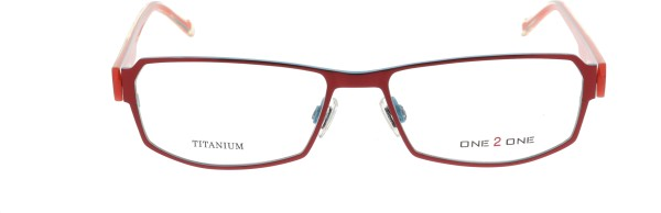 One 2 One Damenbrille blau rot Metall Kunststoff 109