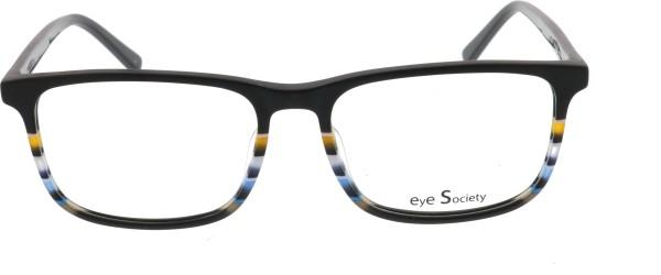 Eye Society Unisex Kunststffbrille schwarz blau gelb