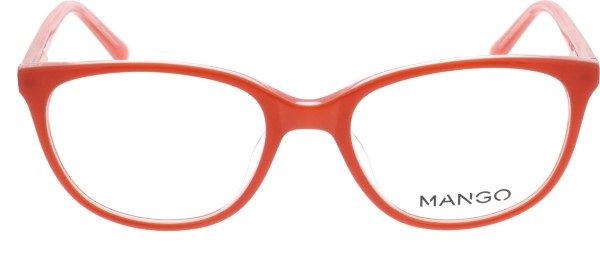 Mango Damenbrille rot Schmetterlingsform