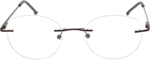 Sunoptic randlose Brille Unisex braun 985E