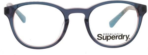 schöne runde Superdry Damen Kunststoffbrille Chie blau