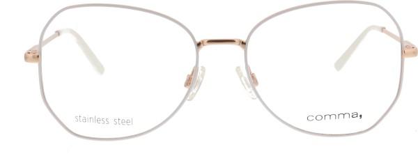Comma  Schmetterlingsform Damen Metallbrille weiß rosé gold 70074