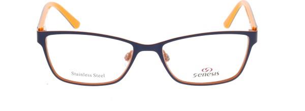 Genesis Damen Kunststoffbrille blau orange 1477