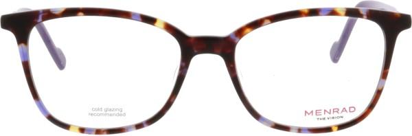wunderschöne Menrad Damen Kunststoffbrille in einer Schmetterlingsform in havanna lila 11092