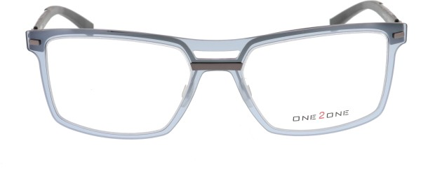 One to One Herrenbrille grau transparent