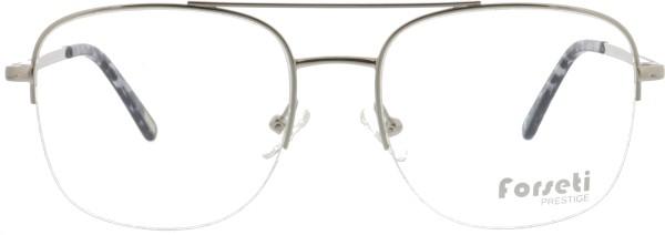 angesagte Herren Metall Nylorbrille mit Doppelsteg von forseti in silber 2911