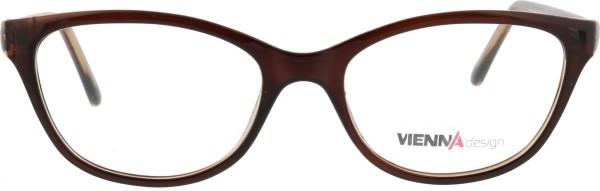 Vienna Damen Schmetterlingsform Brille in braun 091