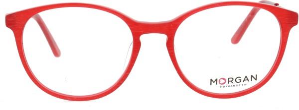 Feuerrote runde Morgan Damen Kunststoffbrille 202003
