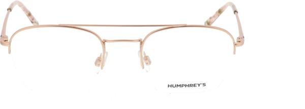 Humphreys Unisex Halbrand Metallbrille rosegold 582274