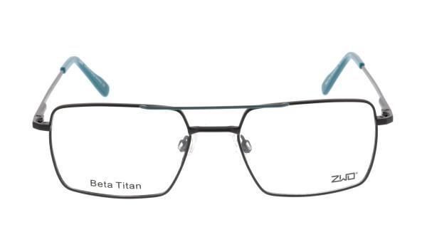 ZWO Heimatliebe Herren Titanbrille schwarz türkis