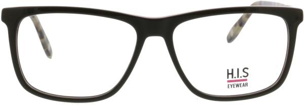 klassische HIS Unisex Kunststoffbrille in oliv rot in einer quadratischen Form 459