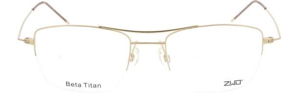 ZWO Herzenslust Titan Herrenbrille gold