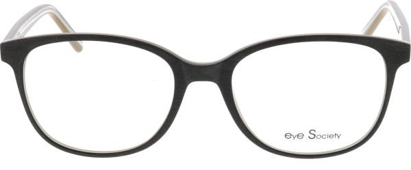 Eye Society Unisex Kunststoffbrille braun gelb gestreift 530