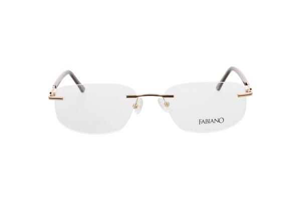 Fabiano Herren Randlosbrille braun gold 166