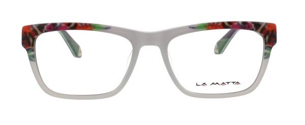 La Matta Damen Kunststoffbrille weiß bunt 3233