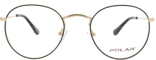 trendige Unisex Brille von Polar im Pantostil in gold schwarz - Michigan 77