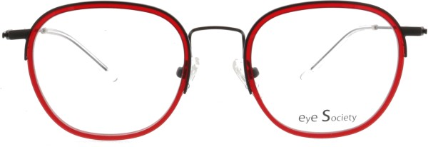 superleichte Eye Society Unisex Brille schwarz rot im Panto Stil