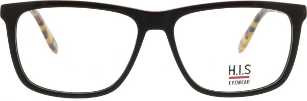 klassische HIS Unisex Kunststoffbrille in braun rot in einer quadratischen Form 459
