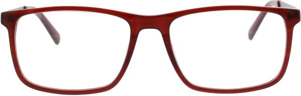 Sunoptic schöne große Unisex Kunststoffbrille rot AC33F