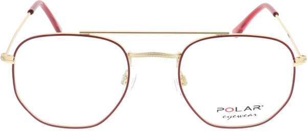 Polar Dakota Herren Metallbrille rot gold