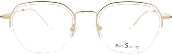 hübsche Eye Society Damen Brille in gold transparent 09-C1