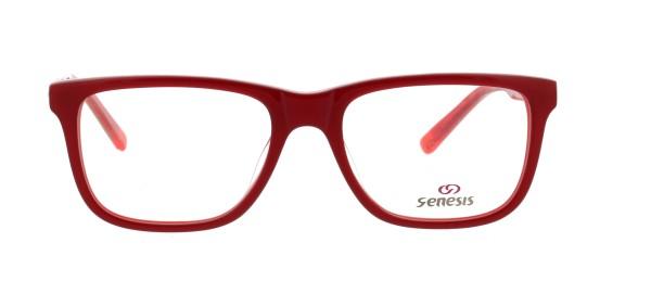 Genesis Damen Kunststoffbrille rot 1445