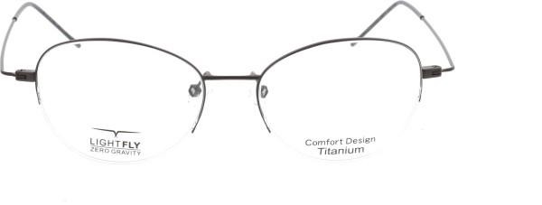 Lightfly Damen Titan Halbrandbrille schwarz JF10