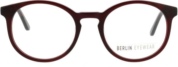 schicke runde Pantobrille für Damen und Herren von Berlin Eyewear in weinrot BERE507