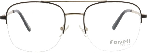 angesagte Herren Metall Nylorbrille mit Doppelsteg von forseti in schwarz gold 2911
