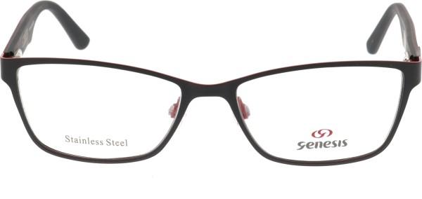Genesis Damen Kunststoffbrille schwarz rot 1477