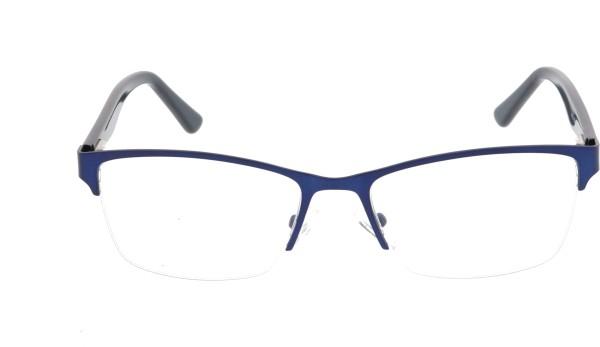 Sunoptic Unisex Halbrandbrille Metall blau 617B