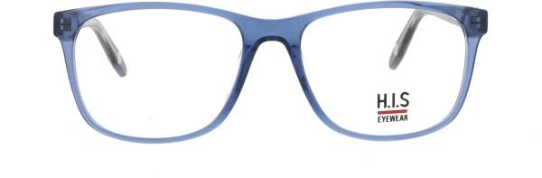 hübsche HIS Unisex Kunststoffbrille blau rechteckige Form 524003