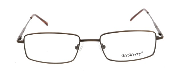 Mc Merry Herren Metallbrille braun