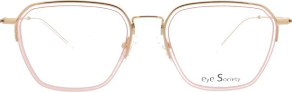 hübsche Eye Society Damen Brille gold rosa transparent 13-01