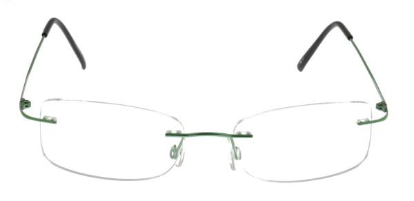 Breitfeld und Schlieckert Titanbrille randlos grün