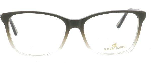 Oliviero Contini Damen Kunststoffbrille grau schwarz 4168