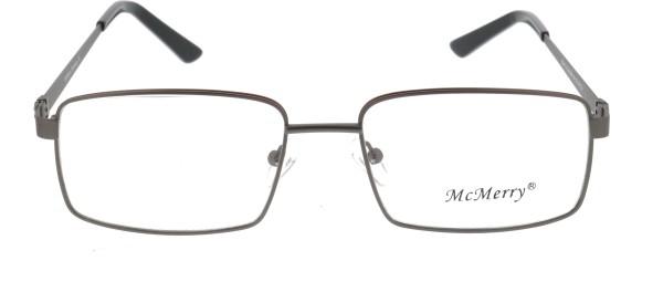 Mc Merry Herren Metallbrille grau rot 411