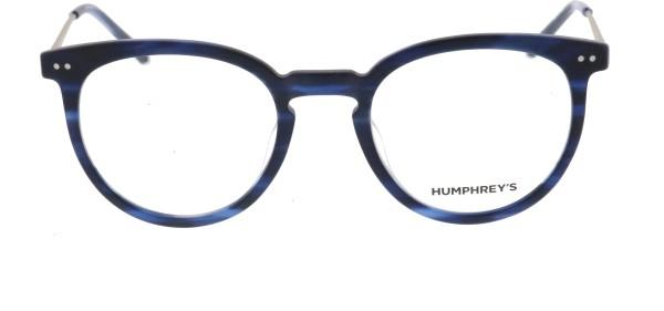 Eschenbach Humphreys Panto Unisexbrille blau havanna 581068