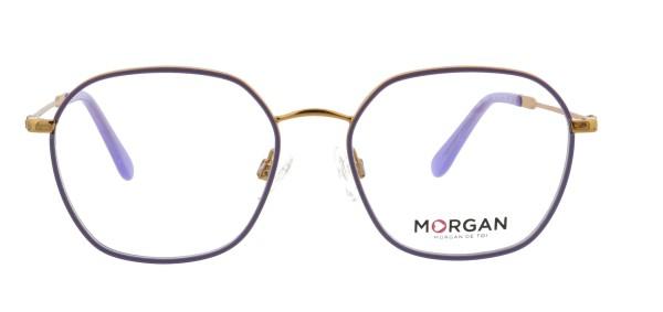 Morgan coole Damen Metallbrille Retrostyle lila gold 203207