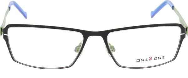 One 2 One Unisex Metallbrille schwarz grün 117