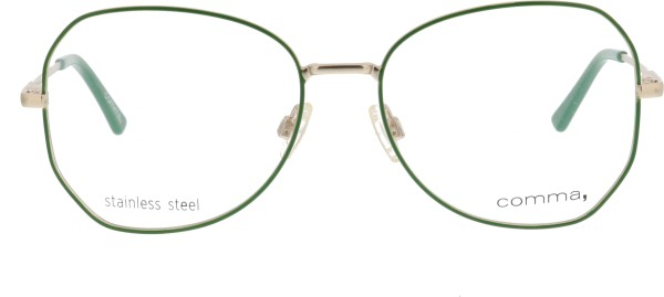 Comma  Schmetterlingsform Damen Metallbrille grün gold 70074