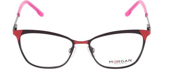 Morgan Damen Metallbrille rot schwarz