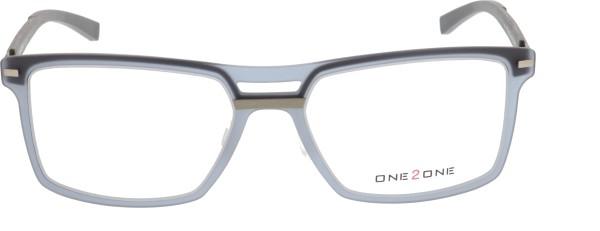 One 2 One Herrenbrille Kunststoff grau