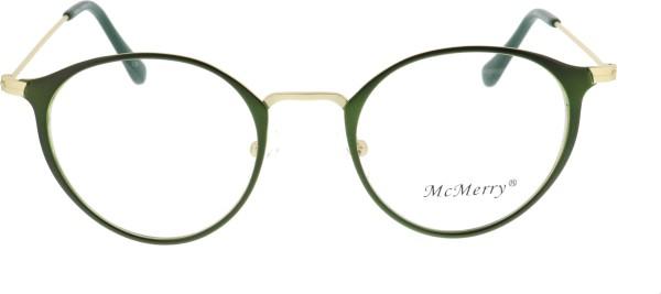 Mc Merry Unisex Metallbrille grün Pantostyle