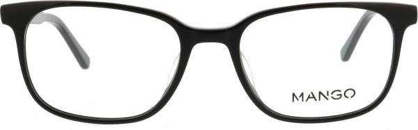 elegante klassische Kunststoffbrille von Mango in schwarz 192010