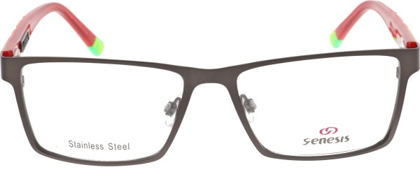 Genesis Damen Kunststoffbrille schwarz rot 1450
