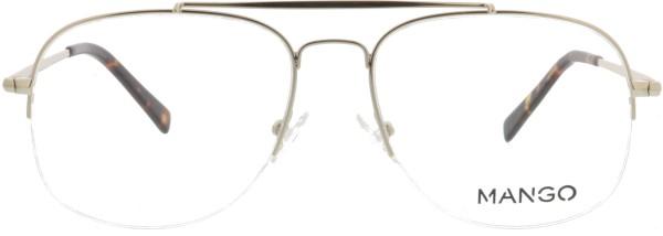 trendige Retro Pilotenbrille von Mango für Herren in gold 200612