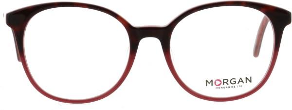 poppige runde Morgan Damen Kunststoffbrille in pflaume 201133