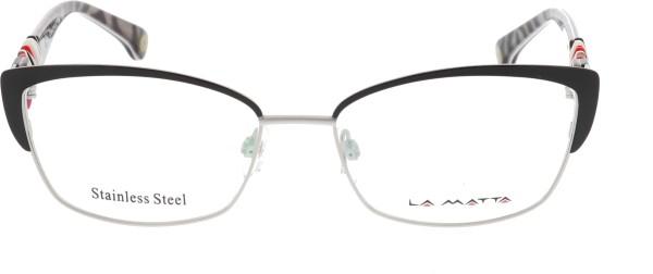 La Matta Damenbrille silber schwarz rot 3122